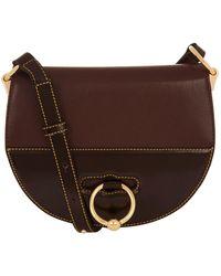 JW Anderson - Medium Leather Latch Saddle Bag - Lyst
