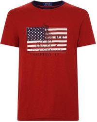 Polo Ralph Lauren - Flag T-shirt - Lyst
