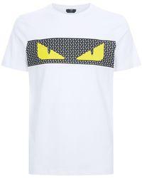 Fendi - Monster Eye Print T-shirt - Lyst