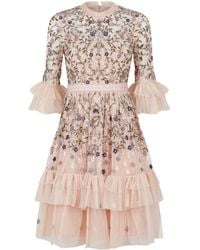 Needle & Thread - Dusk Floral Embroidered Dress - Lyst