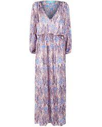 Melissa Odabash - Alison Feather Print Maxi Dress - Lyst