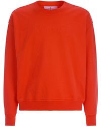 7 For All Mankind - Logo Embroidered Sweatshirt - Lyst