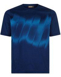Zilli - Degrad Stripe T-shirt - Lyst