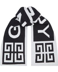 Givenchy - Black And Red 4g Logo Scarf - Lyst