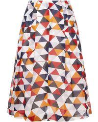 Akris - Diamond Print Pleated Skirt - Lyst