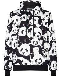 Dolce & Gabbana - Panda Print Hoodie - Lyst