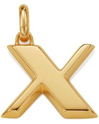 Monica Vinader - Gold Capital X Pendant - Lyst