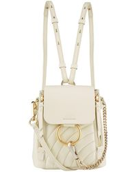 Chloé - Mini Quilted Faye Backpack - Lyst