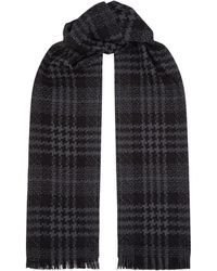 Johnstons - Houndstooth Check Scarf - Lyst