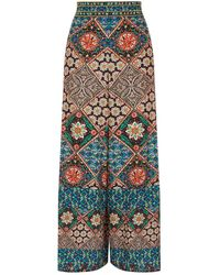 Alice + Olivia - Sherice Patterned Trousers - Lyst