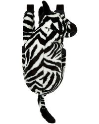 Dolce & Gabbana - Faux Fur Zebra Backpack - Lyst