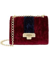 Harrods - Pershore Merlot Velvet Bag - Lyst