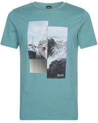 df78207e2 BOSS Orange - Boat Graphic T-shirt - Lyst