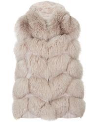 Max & Moi - Novus Hooded Fur Gilet - Lyst