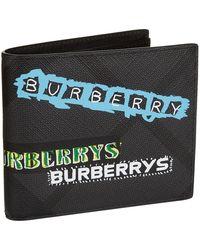 Burberry - Graffiti Logo Bifold Wallet - Lyst