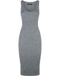 AllSaints - Anza Zip Side Midi Dress - Lyst