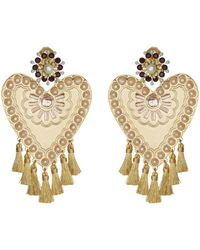 Mercedes Salazar - Heart Clip On Earrings - Lyst