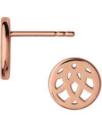 Links of London - Timeless 18k Rose Gold Earrings - Lyst