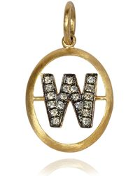 Annoushka - Yellow Gold And Diamond Initial W Pendant - Lyst