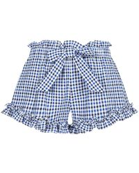 MISA - Lynn Gingham Ruffle Shorts - Lyst