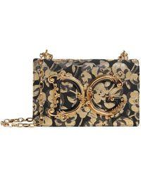 1223c82a74 Lyst - Dolce   Gabbana Glam Floral Brocade Crossbody Bag in Blue