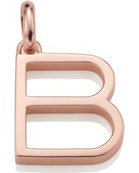 Monica Vinader - Rose Gold Capital B Pendant - Lyst