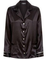 Harrods - Mesh Trim Pyjama Shirt - Lyst