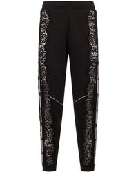 Stella McCartney - Lace-trimmed Cotton Trackpants - Lyst