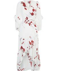Joie - Anawrette Floral Silk Wrap Dress - Lyst