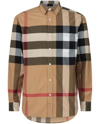 Burberry - Check Buttoned Shirt - Lyst