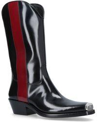 Calvin Klein - Ed Western Stripe Boots - Lyst