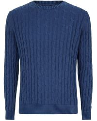 GANT - Cable Knit Sweater - Lyst