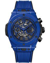 Hublot - Ceramic Big Bang Unico Blue Magic Watch 45mm - Lyst