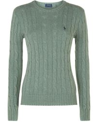 Polo Ralph Lauren - Julianna Cable Knit Sweater - Lyst