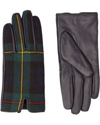 Sandro - Tartan Leather Gloves - Lyst