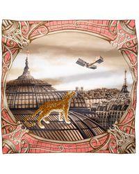 Cartier   Odyssey Panther Motif Silk Scarf   Lyst