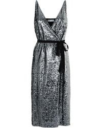 Robert Rodriguez - Sequin Wrap Midi Dress - Lyst