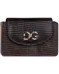 Dolce & Gabbana - Textured Logo Card Wallet - Lyst