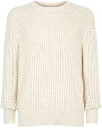AllSaints - Kee Waffle Knit Sweater - Lyst