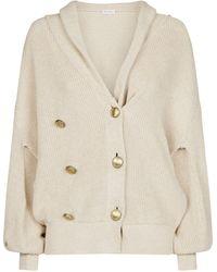 Brunello Cucinelli - Cotton Chunky-knit Cardigan - Lyst
