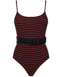 Solid & Striped - Nina Belted Swimsuit - Lyst