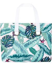 Seafolly | Palm Beach Eyelet Tote Bag, Green, One Size | Lyst
