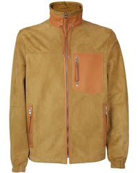 Loewe - Contrast Patch Suede Jacket - Lyst