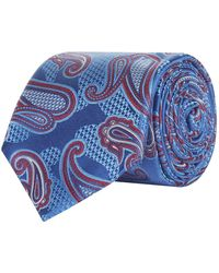 Canali - Paisley Silk Tie - Lyst
