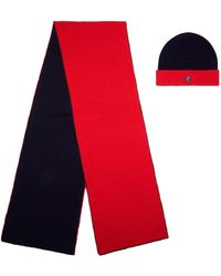 Philip Treacy - Cashmere Reversible Knitted Hat And Scarf Set - Lyst