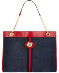 Gucci - Large Suede Tiger Head Tote Bag - Lyst