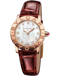 BVLGARI - Rose Gold, Mother-of-pearl And Diamond Bulgari Bulgari Lady Watch 26mm - Lyst