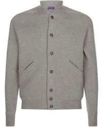 Ralph Lauren Purple Label - Wool Varsity Jacket - Lyst