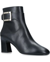 Roger Vivier - Chunky Trompette Buckle Ankle Boots 100 - Lyst