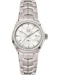 Tag Heuer - Link Ladies Diamond White Mother Of Pearl Watch - Lyst
